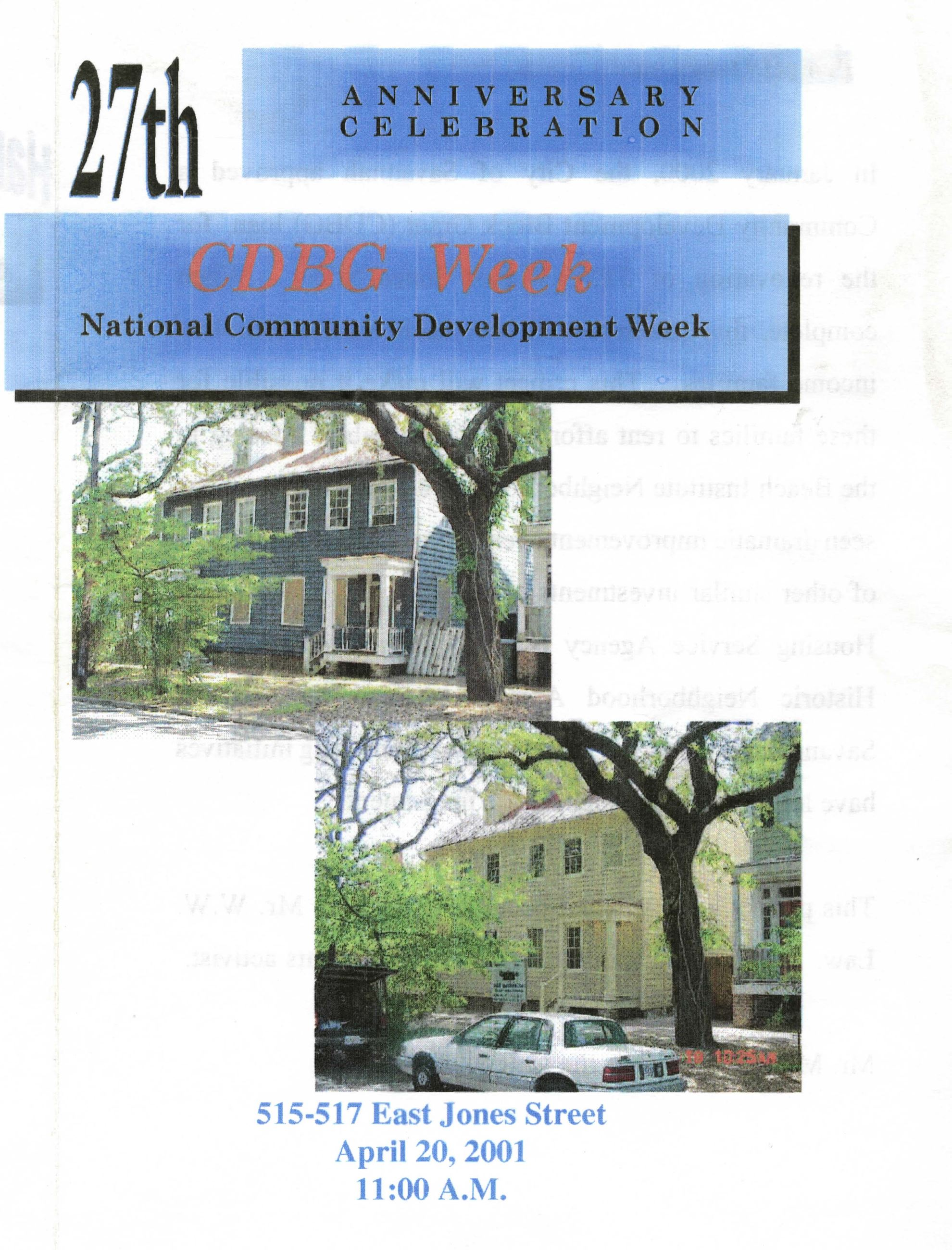 National Community Development Week Celebration