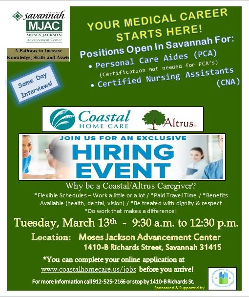 Coastal - Hiring Event