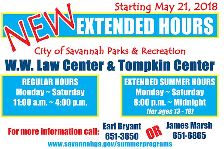 Extended hours Tompkin and WWLaw centers