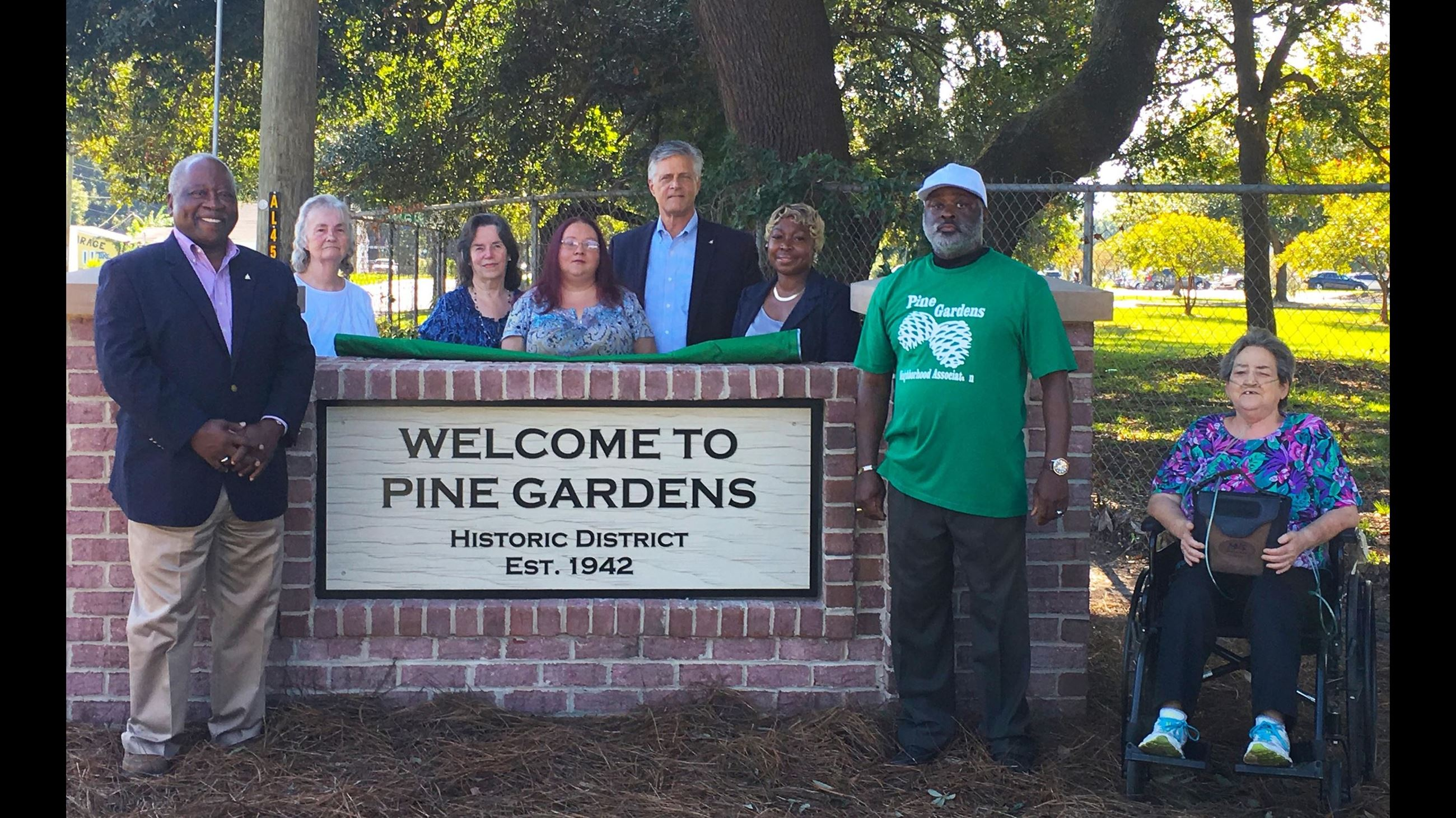 Pine Gardens Sign Unveiling