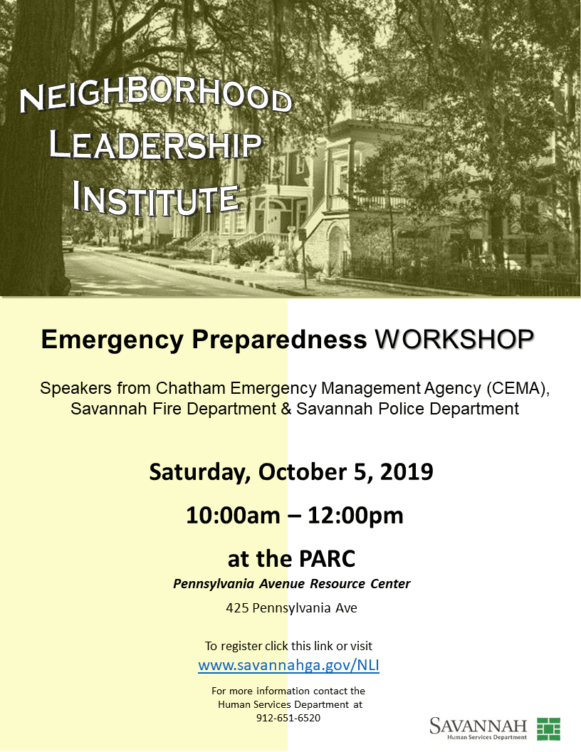Flyer Emergency Preparedness Oct 2019