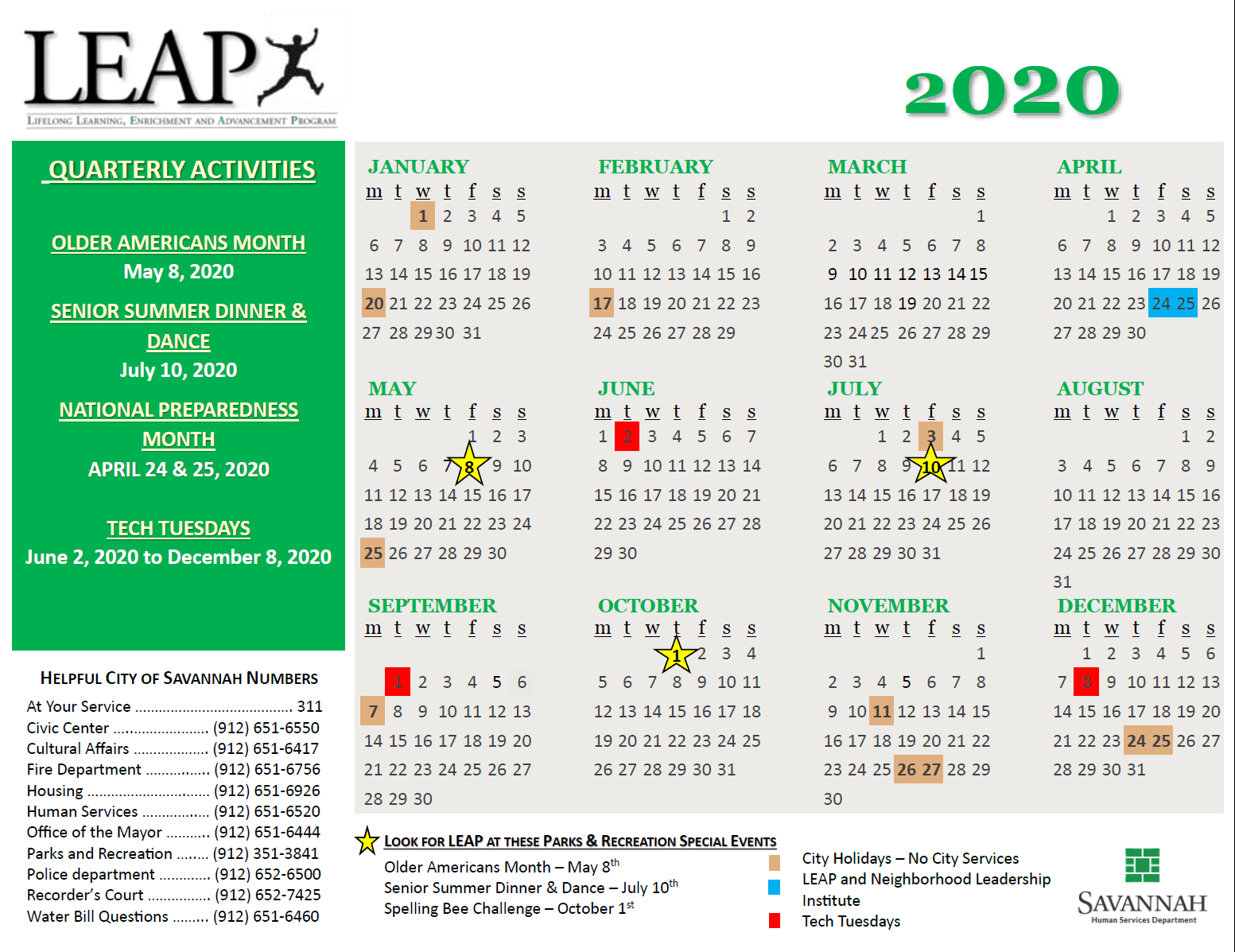 updated LEAP calendar 3-5-2020