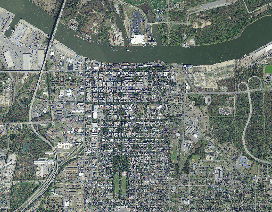 Aerial photo of the City of Savannah.