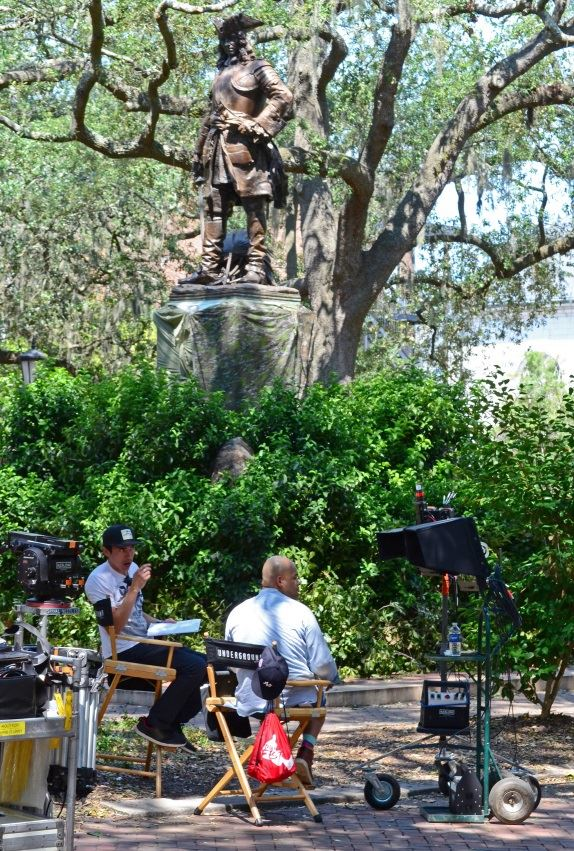 Filming in Savannah