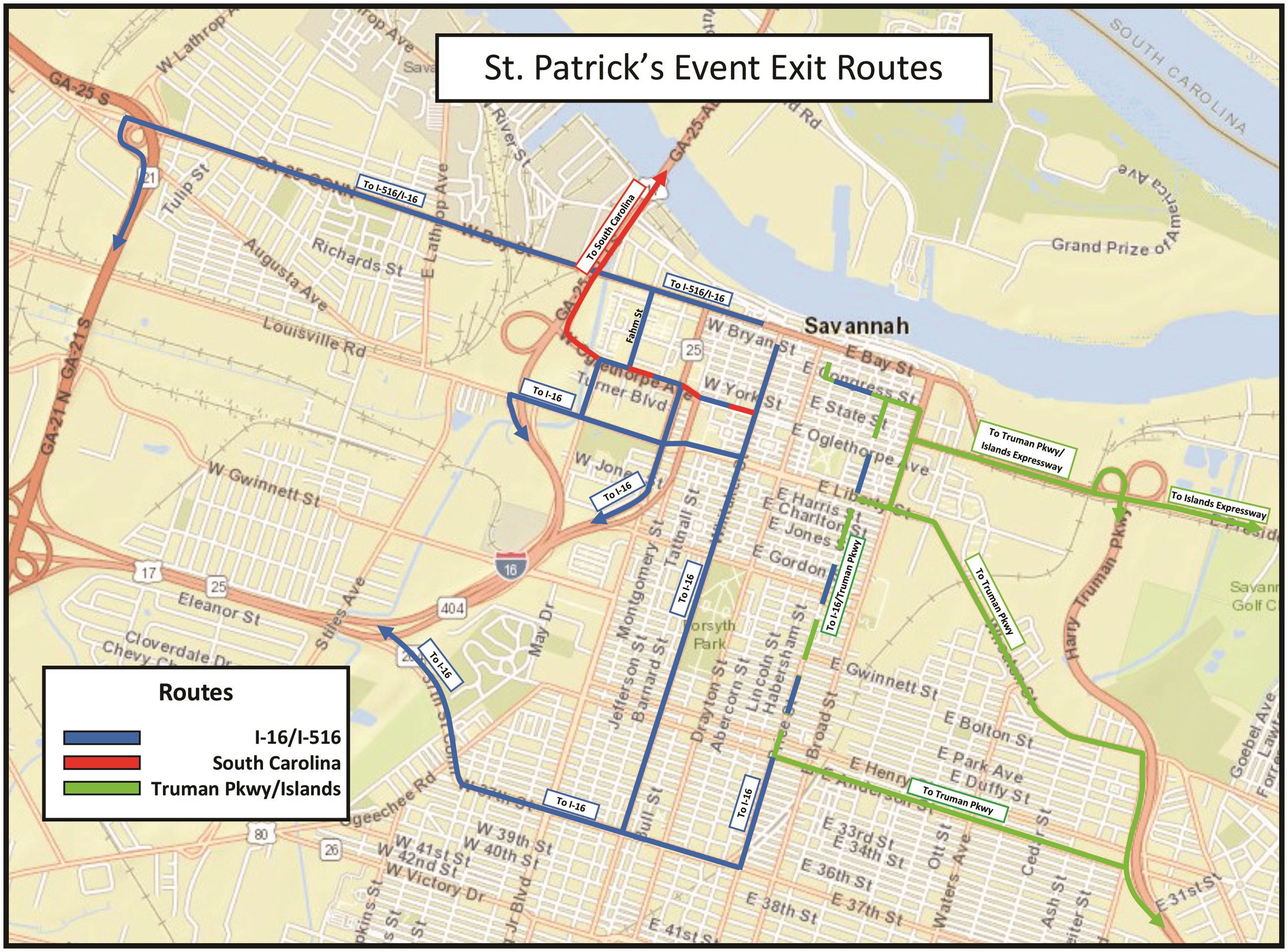 St. Patrick Event Exit Map