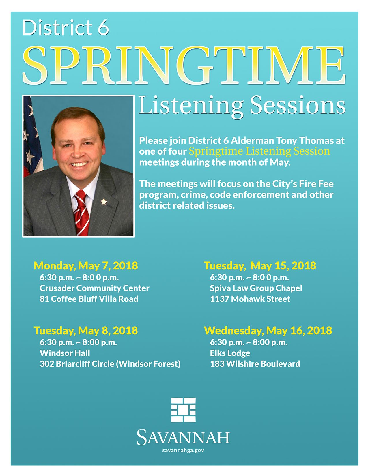 Springtime Listening Session Meetings 052018
