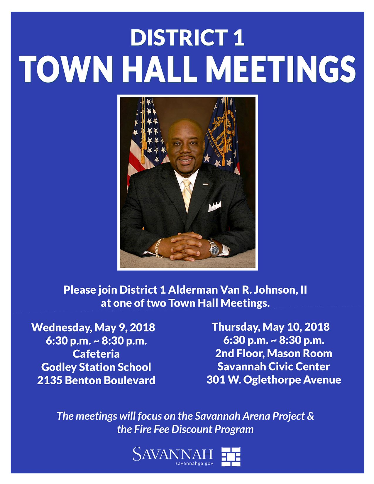 District 1 Town Hall Meeting 05102018 Invitation size