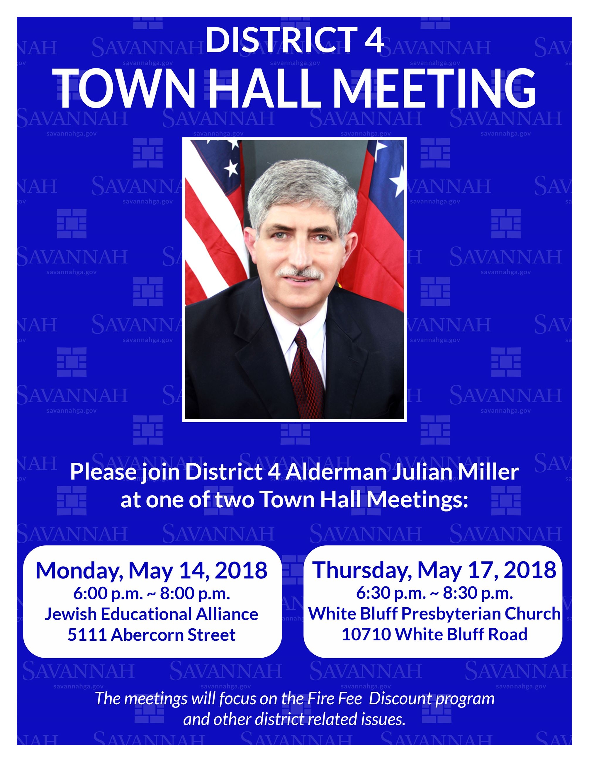 DISTRICT 4 TOWN HALL INVITATION