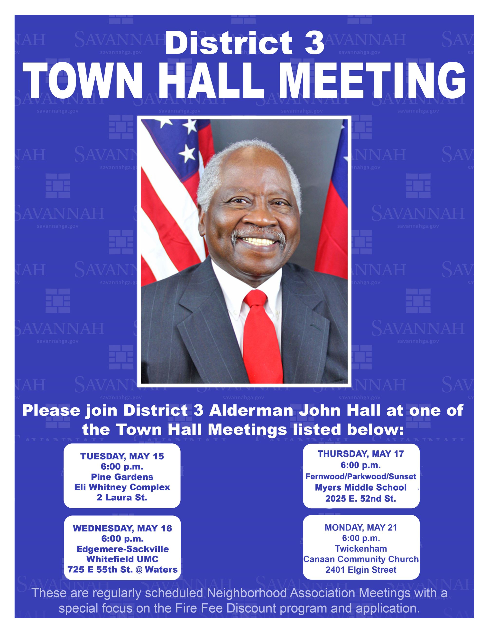 District 3 Town Hall Flyer 051818