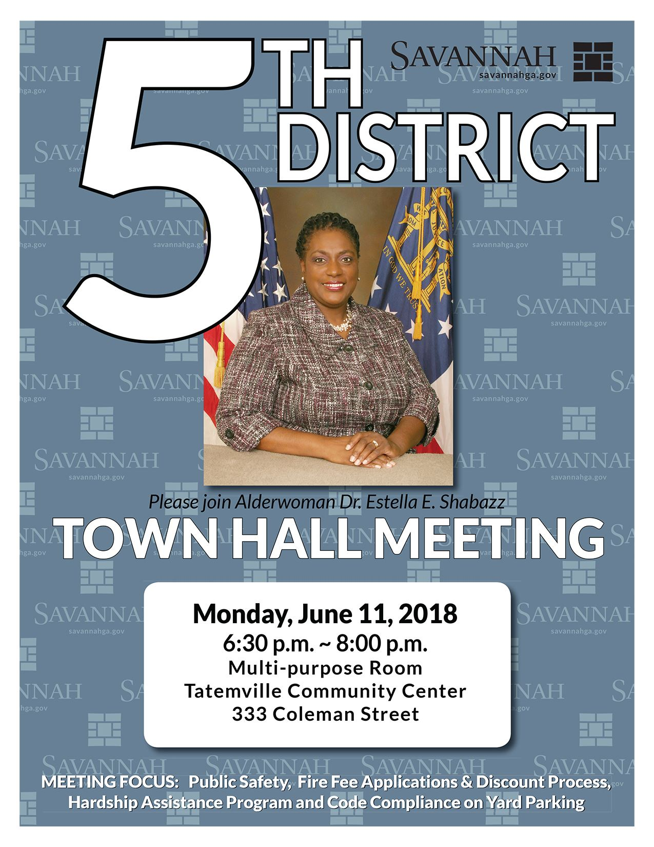 Town Hall Poster District Five 06112018