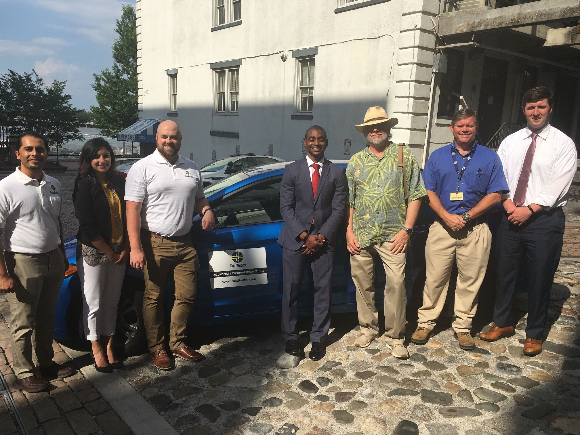 City of Savannah staff, Alderman Durrence and Roadbotics