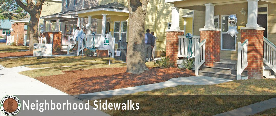 neighborhood sidewalks