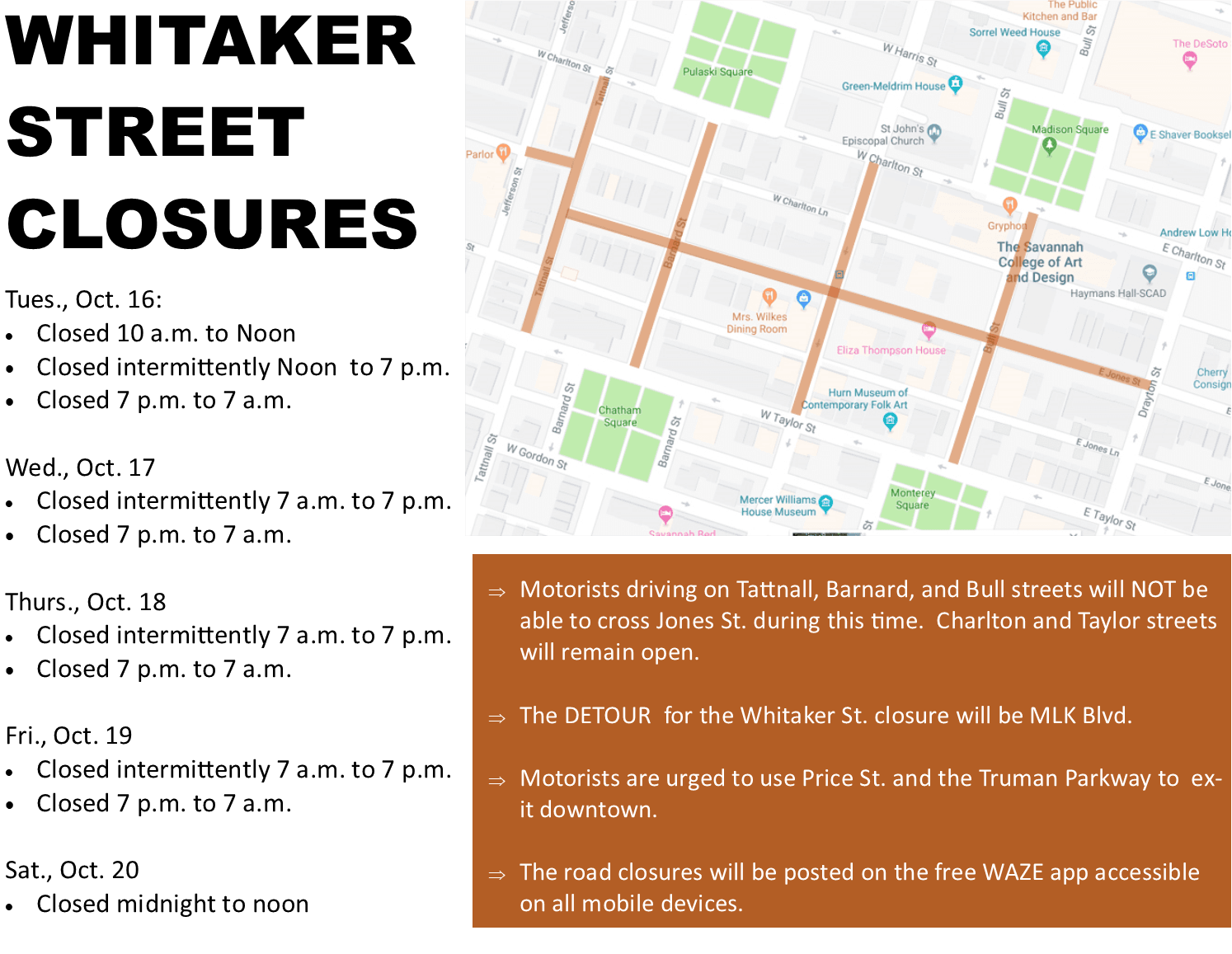 whitaker closures