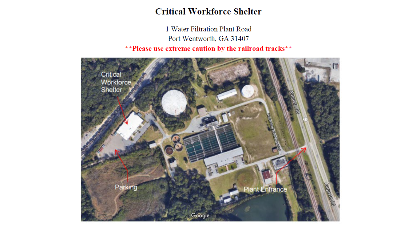 Critical Workforce Shelter Map