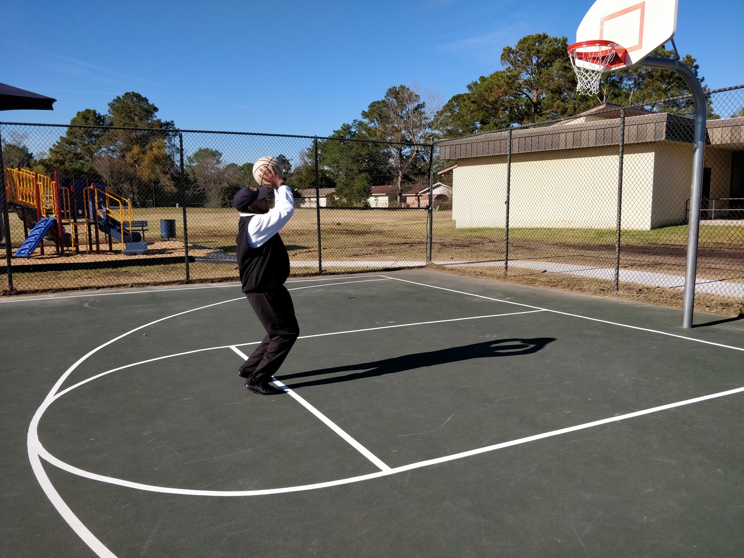 Alderman Johnson Testing Out the Court