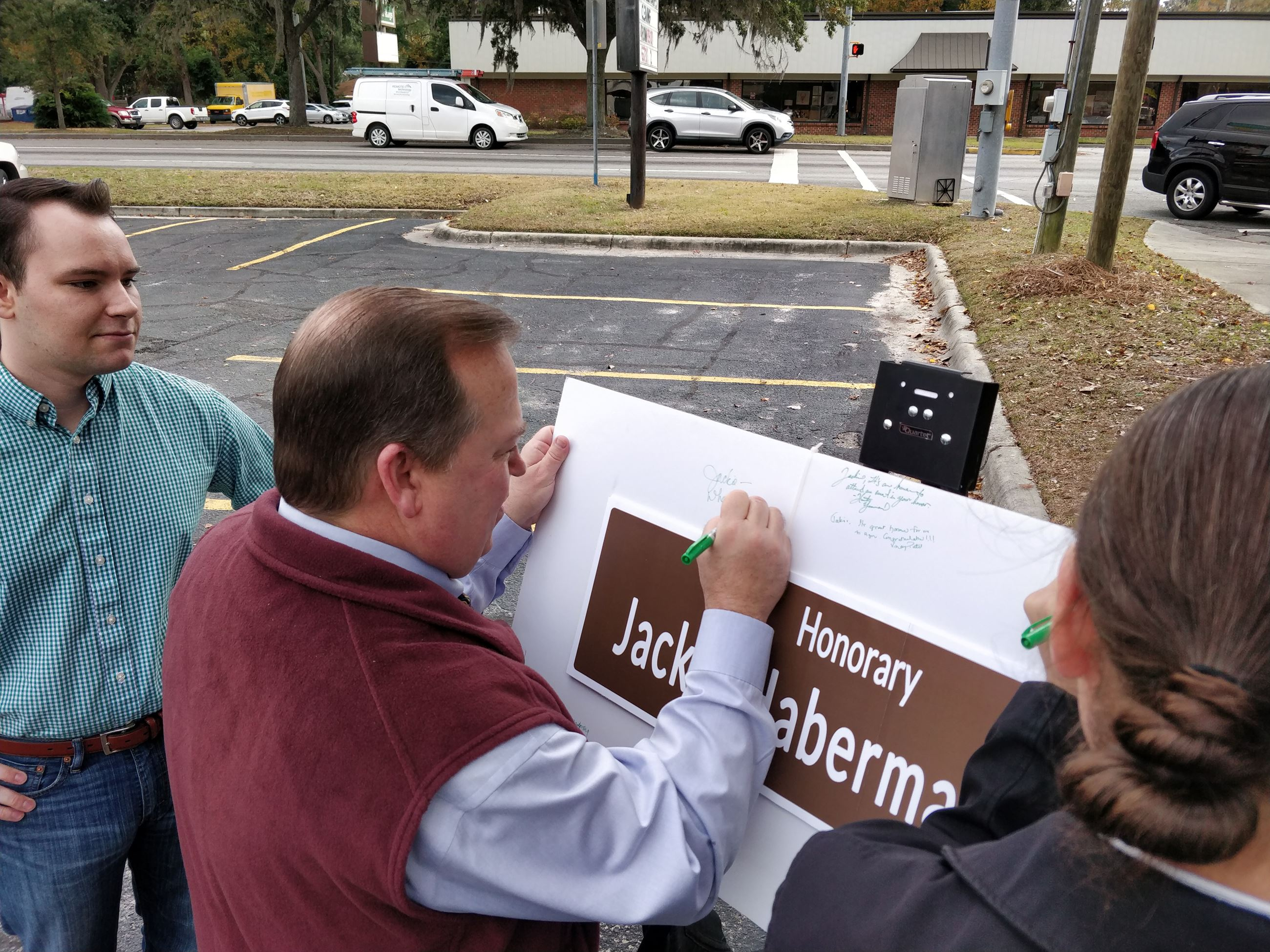 Alderman Signing Dedication