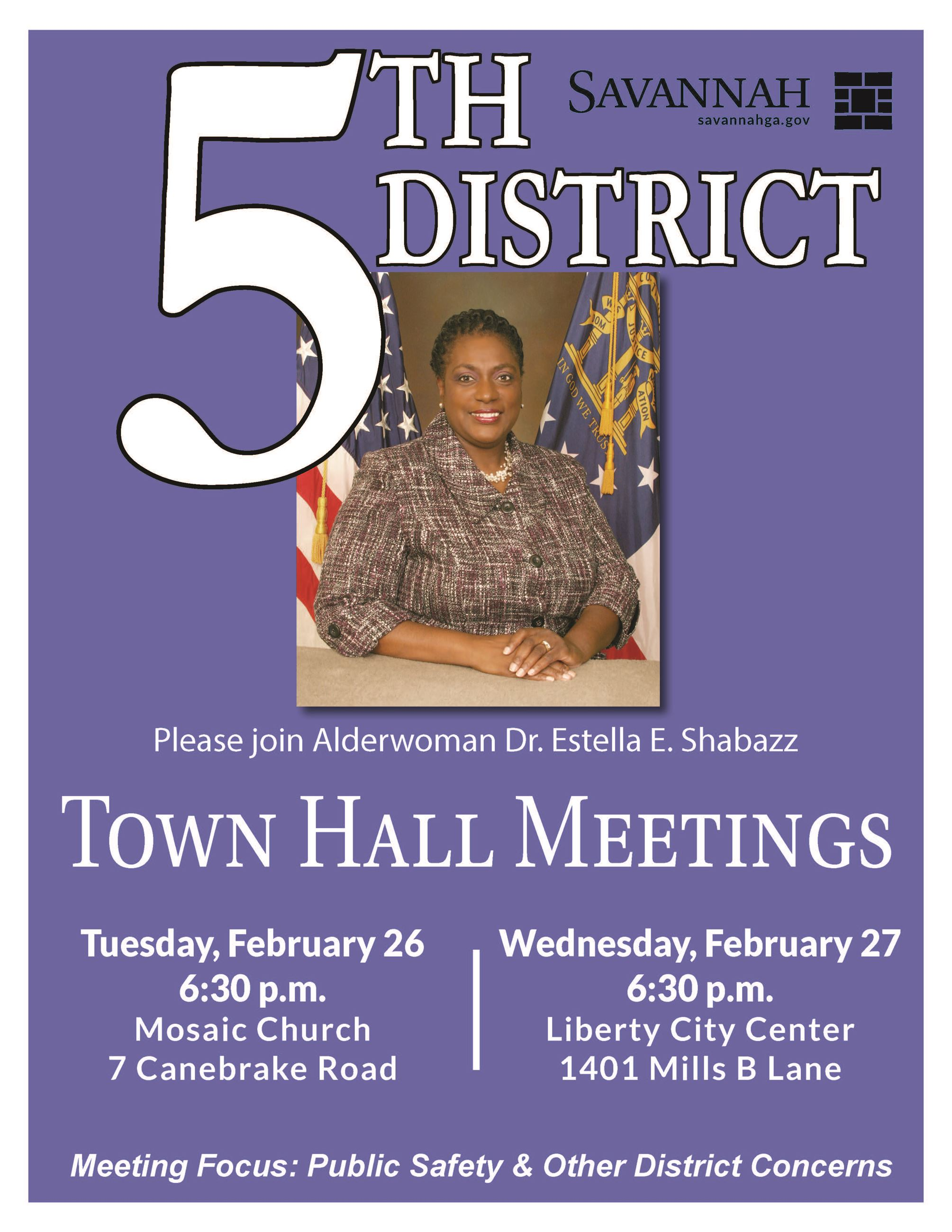 Town Hall Poster District Five 0226272019
