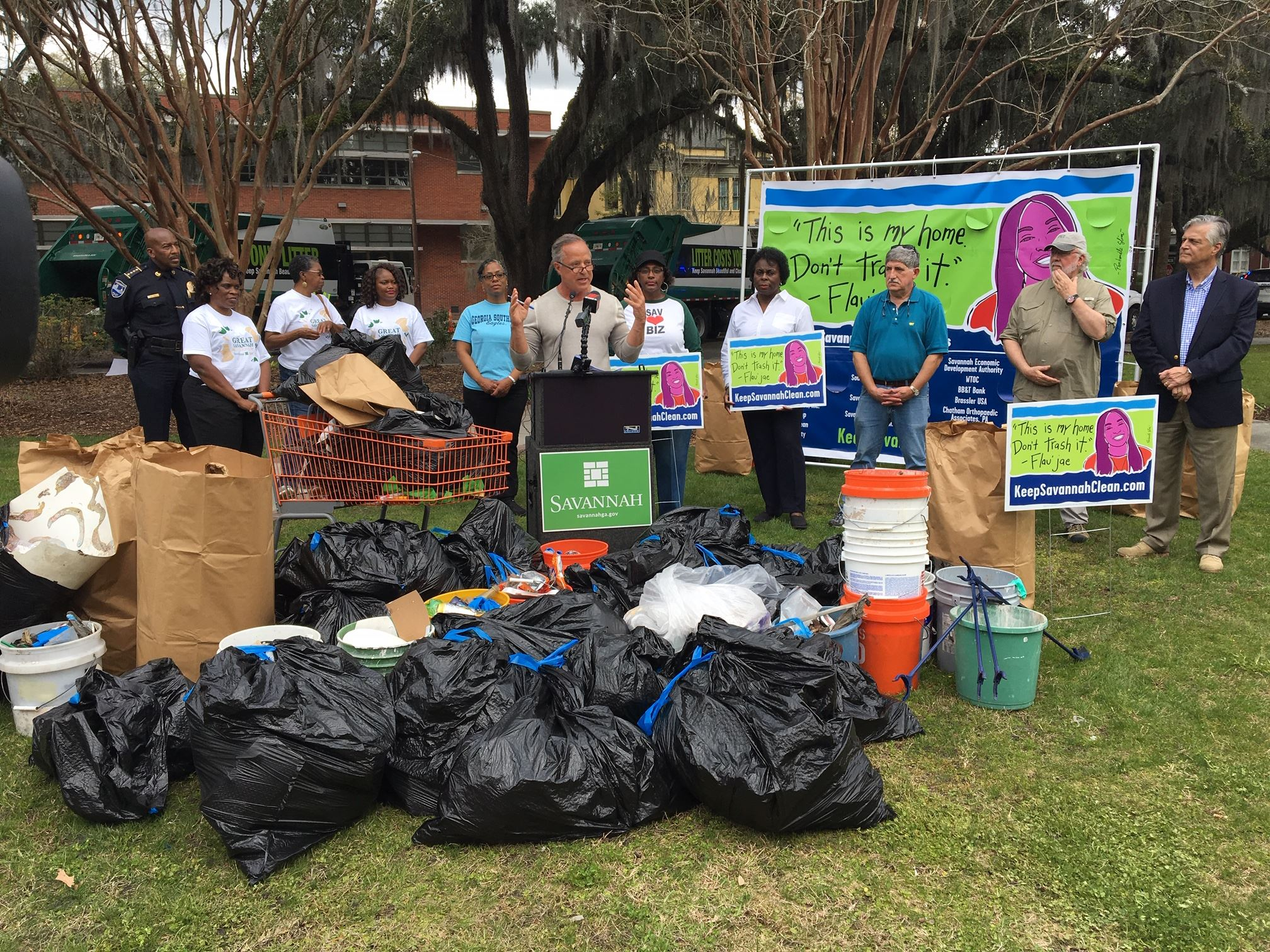 Great Sav Litter Pickup News Conf