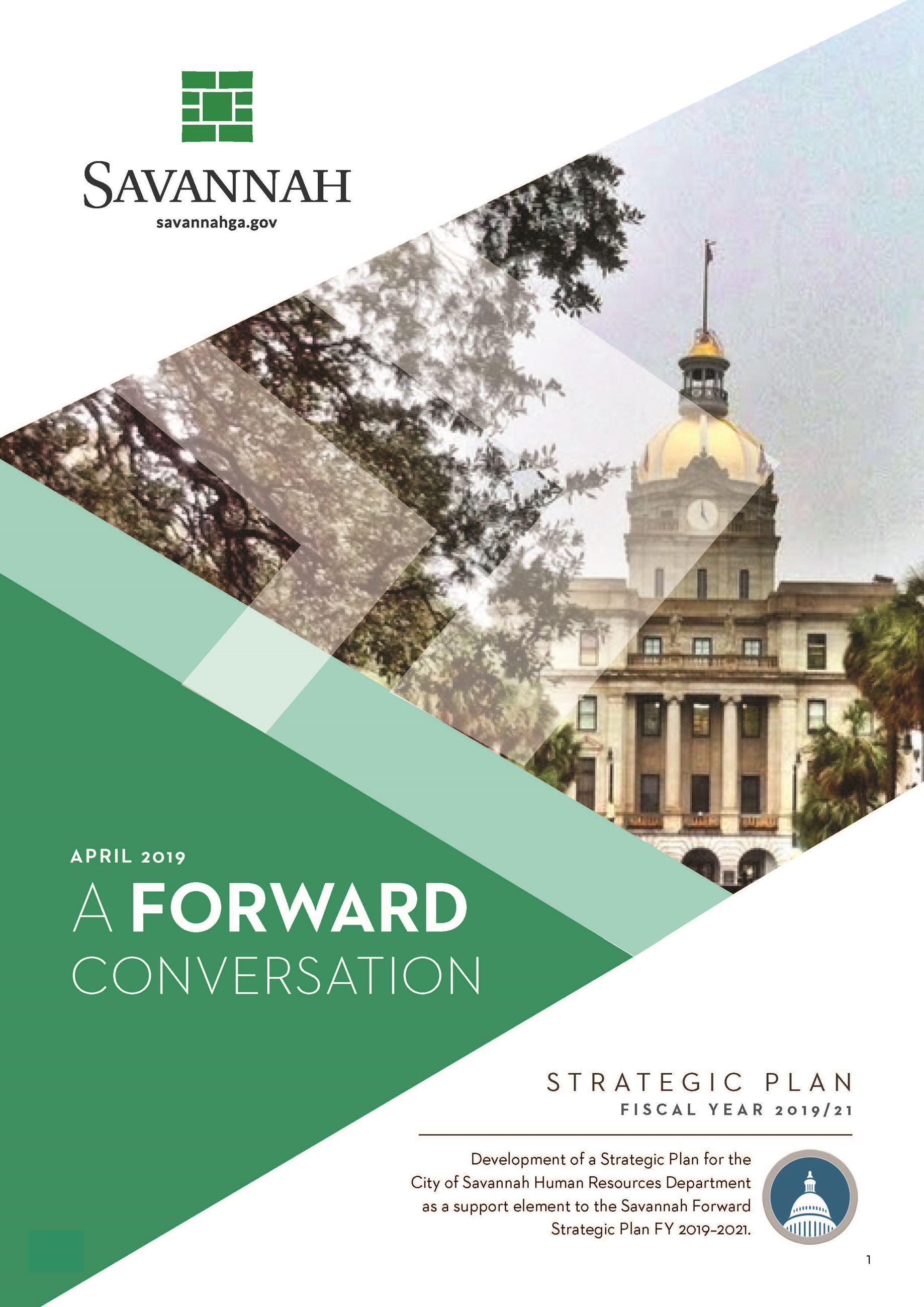 HR Strategic Plan City of Savannah Opens in new window