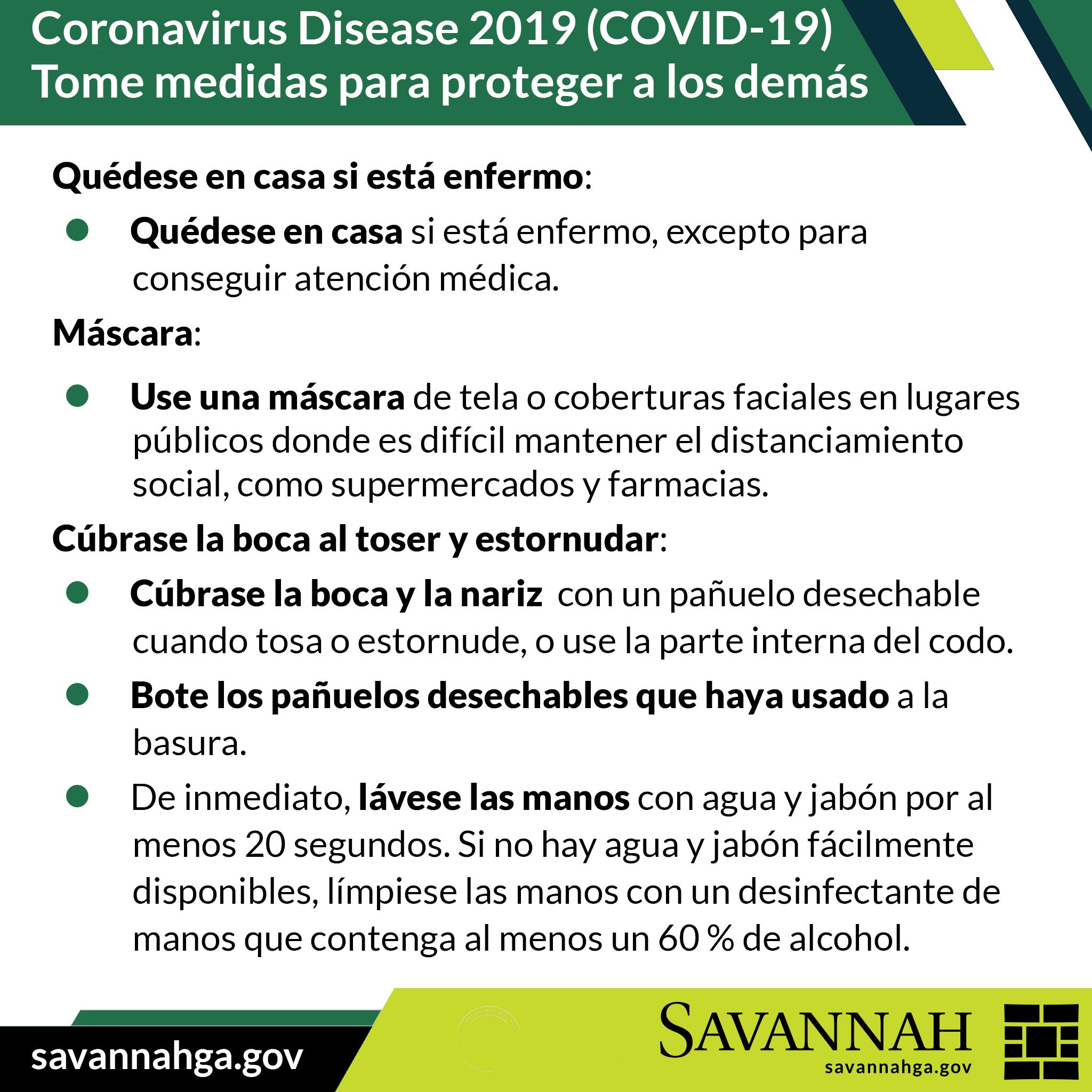 TAke Steps to Protect Others-Stay Home and Cover Coughs SPANISH 04062020 REDO with mask info Opens in new window