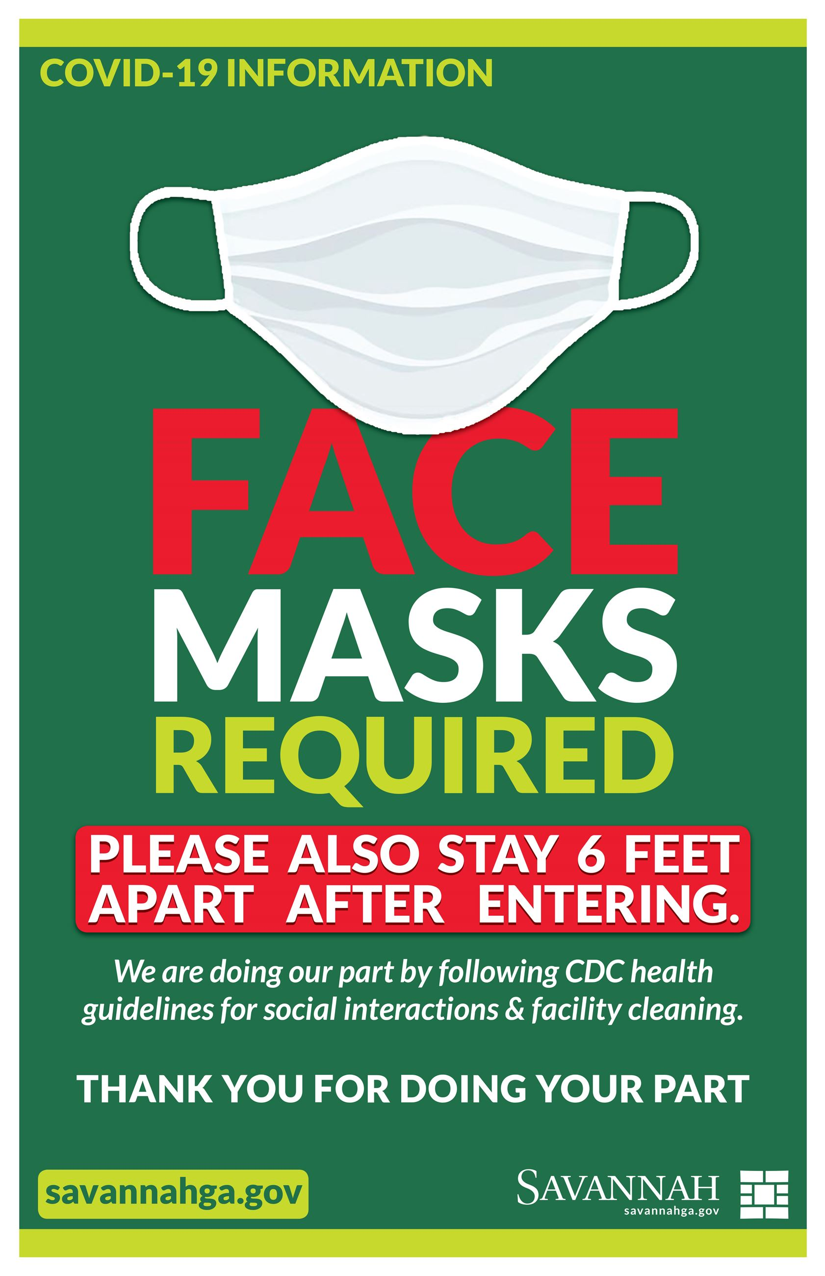 Face Masks required poster 07142020