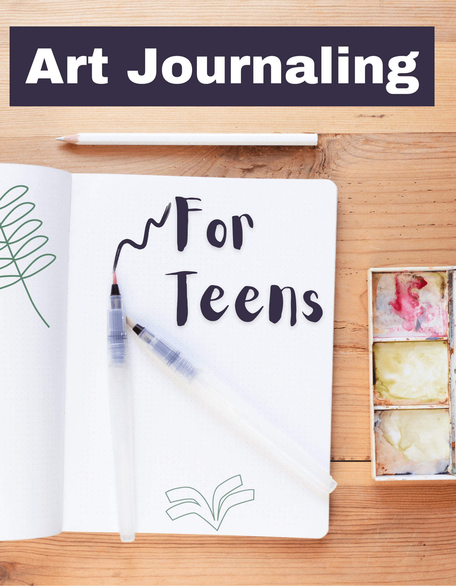 Art Journaling for Teens picture of journal Opens in new window
