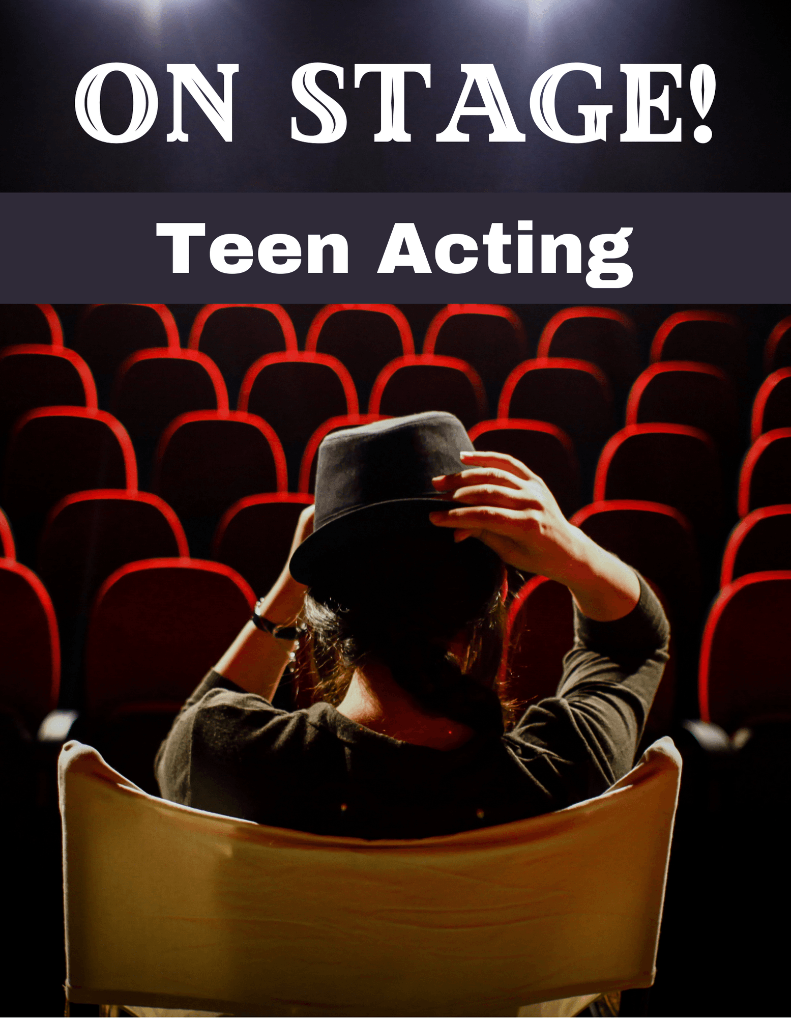 On Stage for Teens girl sitting on stage facing empty seats Opens in new window