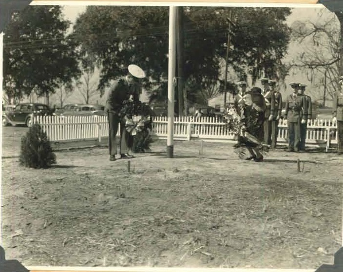 Flagpole ceremony