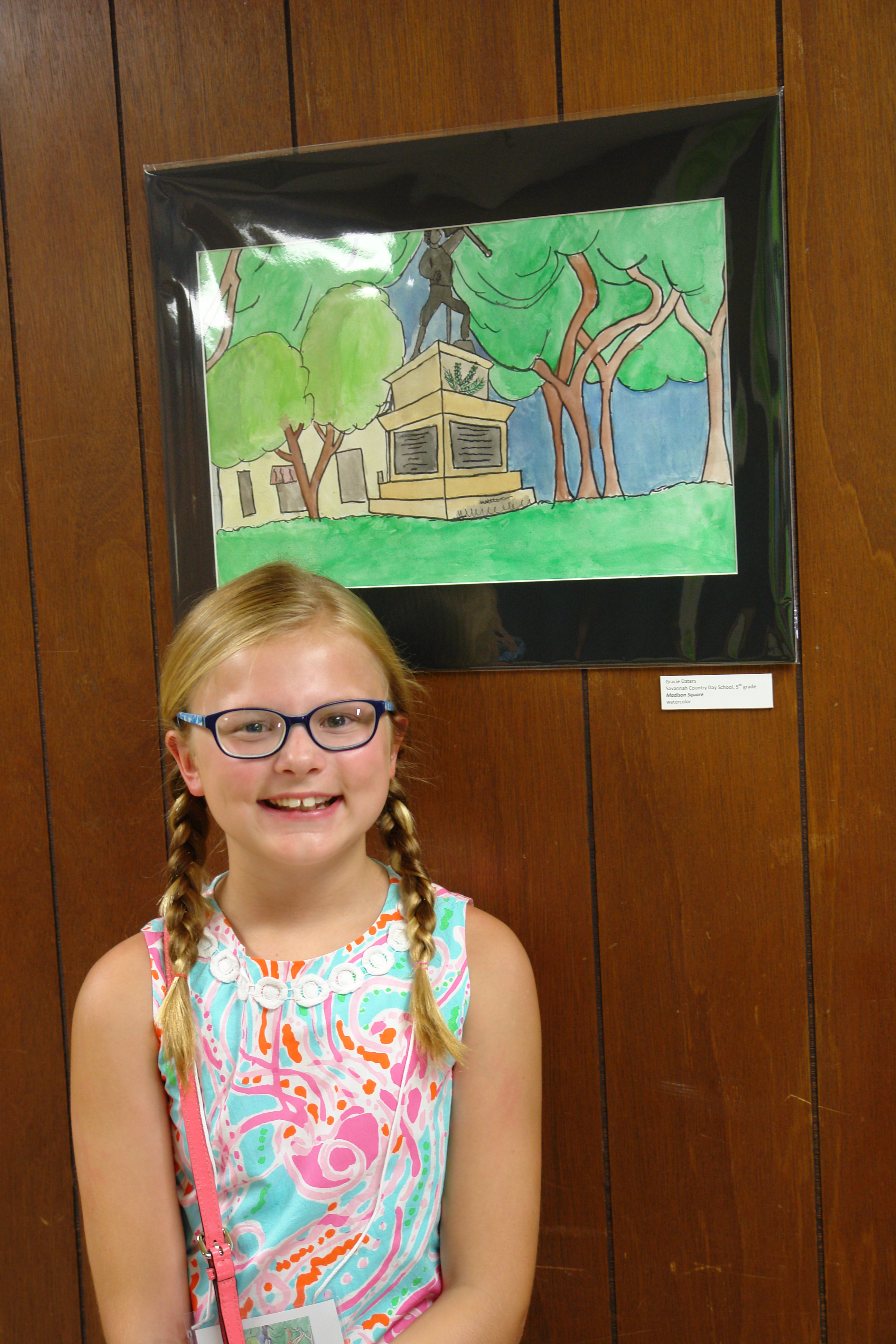 Student Artists with Work