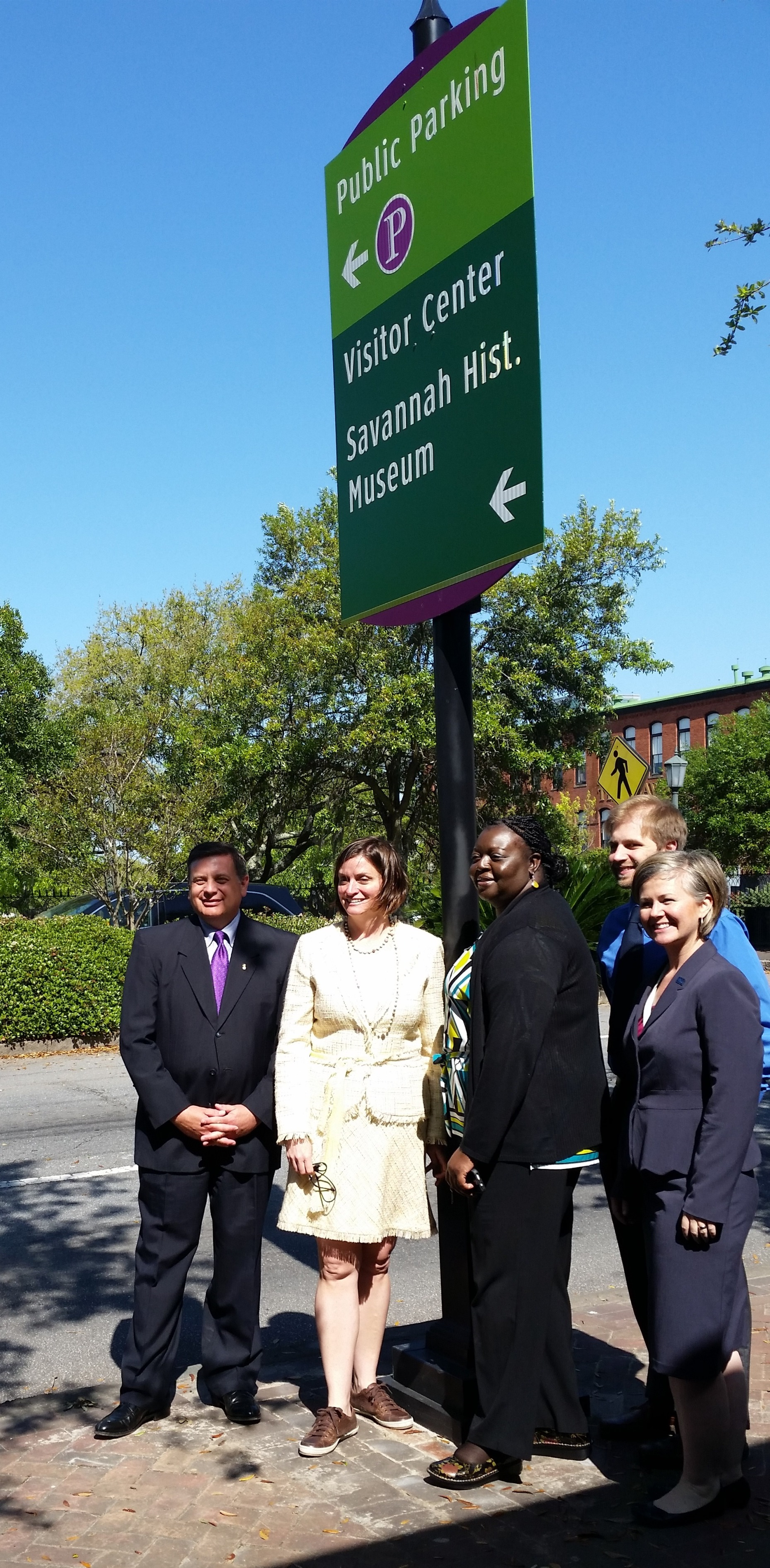 Wayfinding Unveiling, Several member of the steering committee.jpg