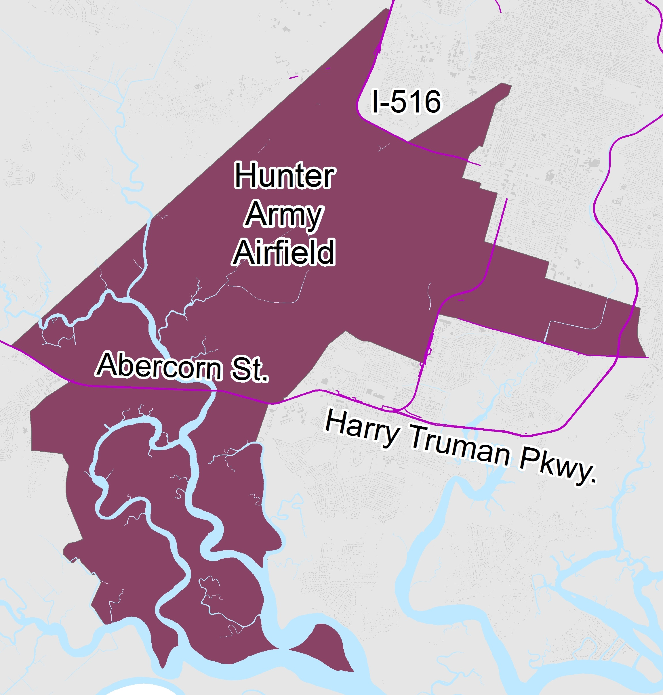 Hunter Army Airfield Map