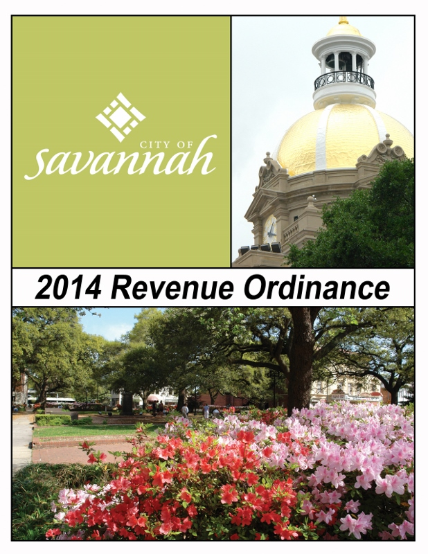 Revenue Ordinance Cover