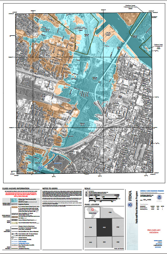 Flood Protection Information Savannah GA Official Website - Current fema flood maps